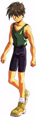 In his most common outfit of green tank and black spandex pants