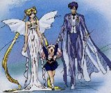 Neo-Queen Serenity with Chibi-Usa and King Edymion
